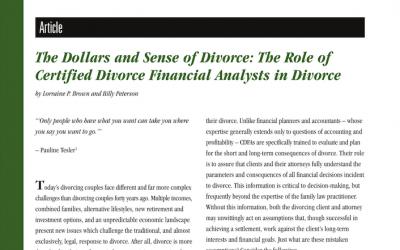 The Dollars and Sense of Divorce